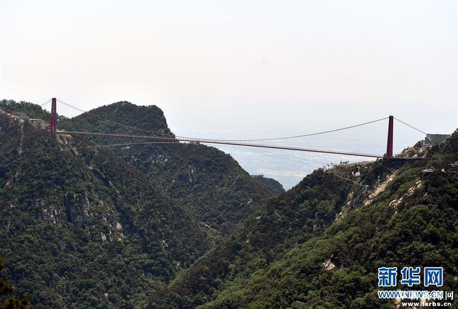 玻璃悬索桥亮相沂蒙山