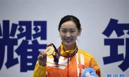 中国选手孙一文夺得女子重剑冠军