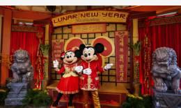 美国迪士尼加州冒险乐园红红火火迎鼠年