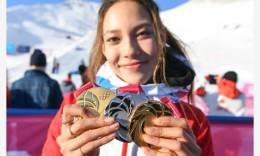 谷爱凌和她的三枚奖牌
